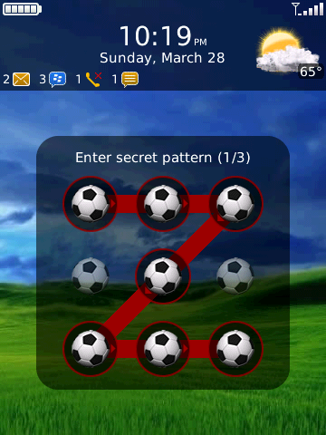 patternlock 27 Justins App of the Day: PatternLock For The Blackberry Storm